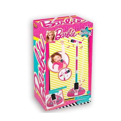 Microfone Karaokê Fabuloso Barbie Conecta Celular e MP3 - Fun  - Doce Diversão