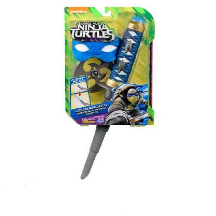 Tartarugas Ninja Kit Batalha Retrátil  Filme II – Leonardo – Multikids  - Doce Diversão
