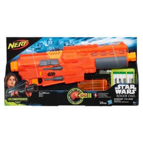 Nerf Star Wars Rogue One Dolphi Troop S1 C/ Som e Luz  Jyn Erso  - Hasbro  - Doce Diversão