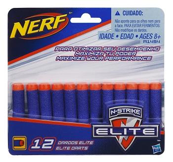 Refil com 12 dardos Nerf N Strike Elite -Original- Hasbro  - Doce Diversão