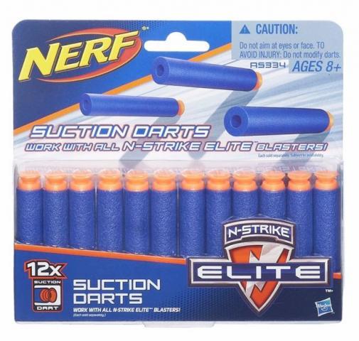 Refil com 12 dardos Sucção Nerf N Strike Elite -Original- Hasbro  - Doce Diversão