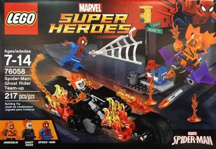 Lego 76058 – Heroes  – Homem Aranha Motoqueiro Fantasma e Duende Planador  - Doce Diversão