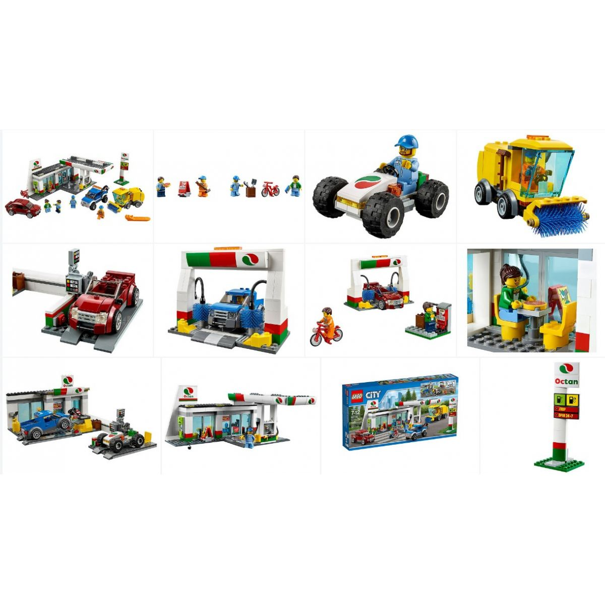 Lego 60132 – City – Posto de Gasolina – 575 pç  - Doce Diversão
