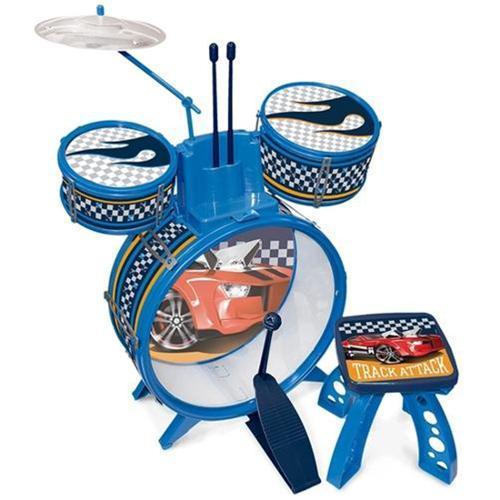 Bateria Musical Infantil  Hot Wheels - Fun  - Doce Diversão