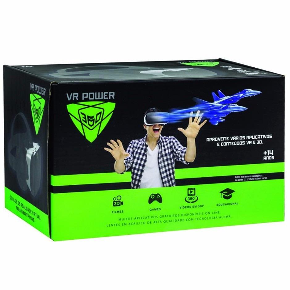 ÓCULOS VR POWER 360 - REALIDADE VIRTUAL 3D - DTC  - Doce Diversão