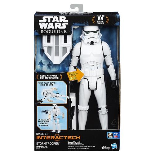Boneco Star Wars Interactech Stormtrooper Som e luz - Hasbro  - Doce Diversão