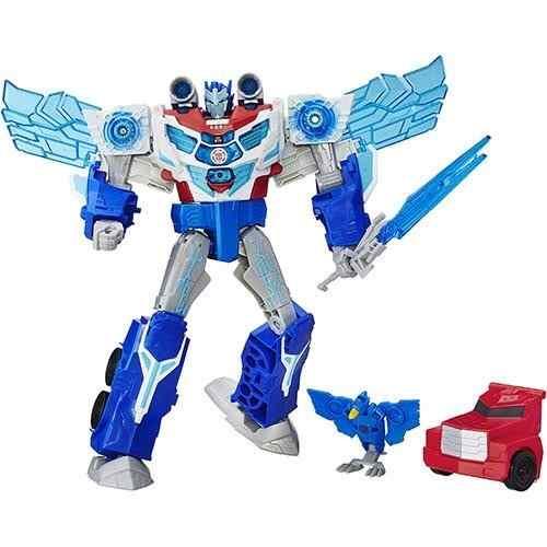 Transformers Power Surge Optimus Prime 30cm som e luz Hasbro   - Doce Diversão