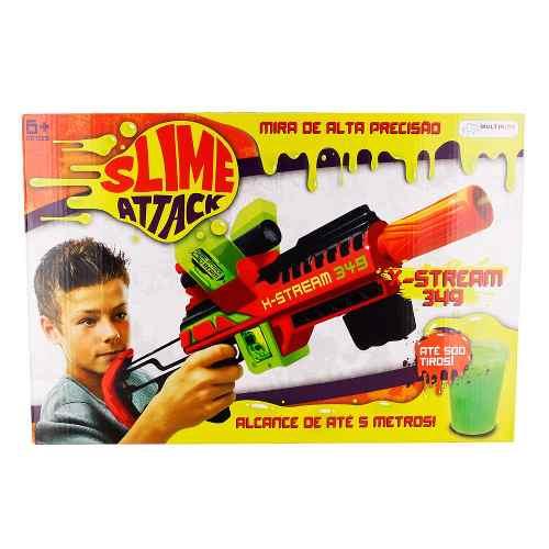 Lançador Slime Attack - X-stream - Multikids  - Doce Diversão