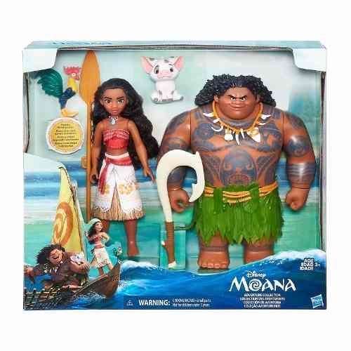 Boneca Disney Princesa Moana & Maui – 27cm - Hasbro  - Doce Diversão