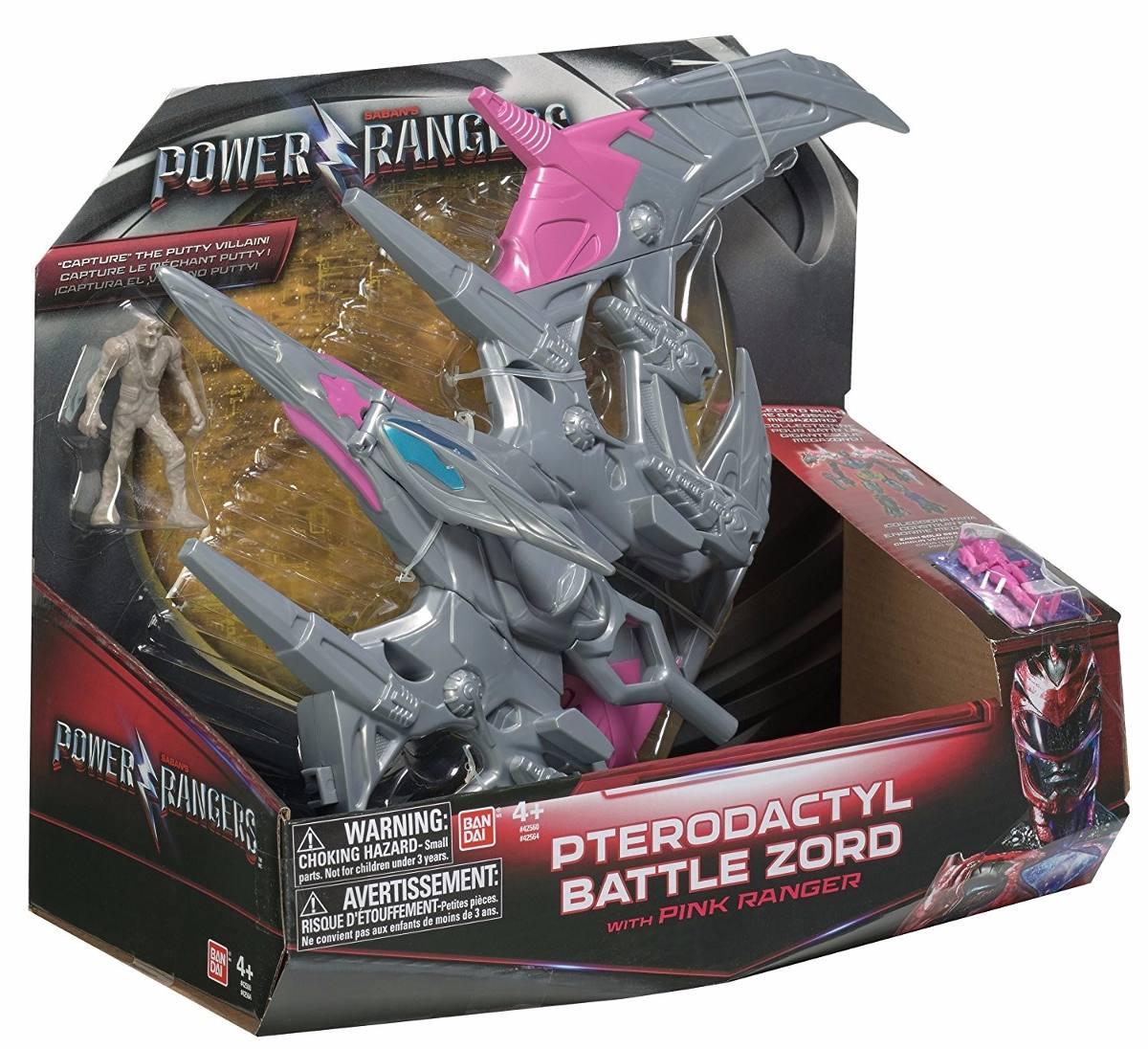 Power Rangers O Filme – Pterodactyl Zord Batalha + Ranger Rosa –Bandai  - Doce Diversão