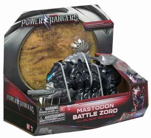 Power Rangers O Filme – Mastodon  Zord Batalha + Ranger Black –Bandai  - Doce Diversão