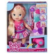 Boneca Baby Alive Cabelos Fashion Loira C/ Secador - Hasbro