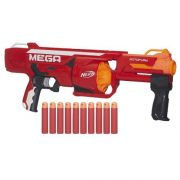 Nerf Strike Mega Rotofury  10 dardos alcance 23 m - Hasbro