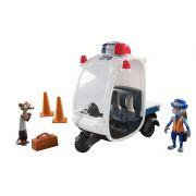 Zootopia - Disney - Veiculo + 2 personagens policial Judy - Sunny