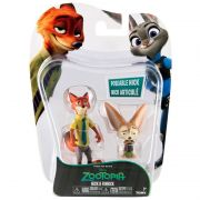 Zootopia - Disney - Kit com 8 bonecos Personagens Judy/Nick - Sunny