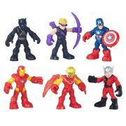 Playskool Heroes Marvel Capitão America, Iron Man e amigos - Hasbro
