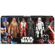 Bonecos 30 cm Star Wars Ep VII Heroes Series pack C/6 Hasbro