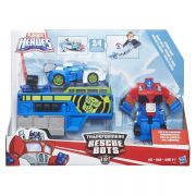 Transformers Playskool Rescue Bots Trailer Corrida Optimus  – Hasbro