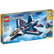 LEGO 31039 -  Creator - Avião a Jato Azul - 3 em 1 – 608pç