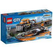 Lego 60085 - City  - Jipe 4x4 com Barco a Motor