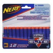 Refil com 12 dardos Nerf N Strike Elite -Original- Hasbro