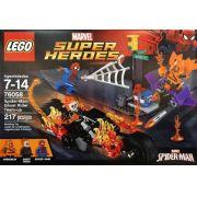 Lego 76058 – Heroes  – Homem Aranha Motoqueiro Fantasma e Duende Planador