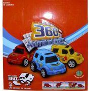 Coleção Carrinhos 360 Auto Turbo - Fricção E Giro C/12 - Dtc