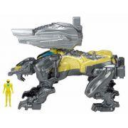 Power Rangers O Filme – Sabertooth  Zord Batalha + Ranger Amarelo –Bandai