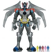 bb5caefe9ee Power Rangers O Filme – Megazord Luxo Som e Luz 44 cm + 5 Rangers –