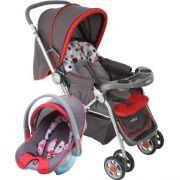 Carrinho Bebê System Reverse Deluxe + Bebê Conforto Vermelho Cosco