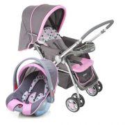 Carrinho Bebê System Reverse Deluxe + Bebê Conforto Rosa Cosco