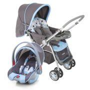 Carrinho Bebê System Reverse Deluxe + Bebê Conforto Azul - Cosco