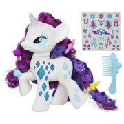 My Little Pony Princesa Rarity Luxo Brilho Acessorios - Hasbro