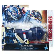 Transformers Filme 5 TurboChanger Barricade 10 cm  1 passo - Hasbro