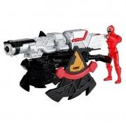 Power Rangers Ninja Steel lançador e morfador batalha + ranger Vermelho 10 cm - Sunny