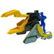 Power Rangers Ninja Steel lançador e morfador batalha + ranger Azul 10 cm - Sunny