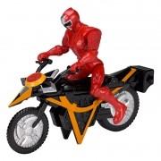 Power Rangers Ninja Steel Veiculo Morfador + ranger Vermelho 15 cm - Sunny