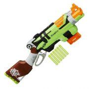 Nerf Strike Zombie Slingfire -lançador Com Alavanca - Hasbro