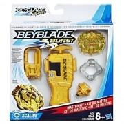 Bey Blade Com Pião Lançador Kit de Mestre Xcalius - Hasbro