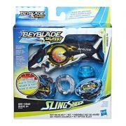 Bey Blade Turbo Sling Shock Deluxe Medidor Potência –  2 modos batalha - Forneus F4 Hasbro