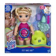 Boneca Baby Alive 1 Peniquinho Loira 50 sons Portugues - Hasbro