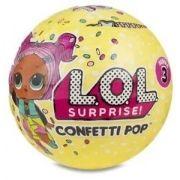 Boneca L.O.L  LoL Confetti Pop Surprise Serie 3 – 9 surpresas  Candide
