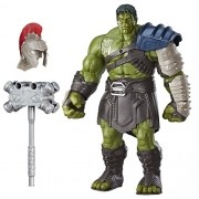 Boneco Eletronico Interativo Hulk Gladiador 34 cm  Fala Portugues - Hasbro