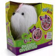 Cachorrinho Branco Play Full Pets Coleira Com Controle - Anda e Late- Toyng