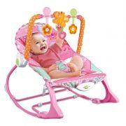 Cadeira Repouso Balanço Musical Vibratória Móbile 18kg Rosa Baby Style