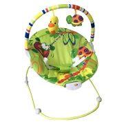 Cadeira Repouso Musical Vibratória C/ Móbile Poly Verde Baby Style