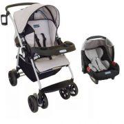 Carrinho + Bebê Conforto Travel System Reverse Burigotto AT6 k Cinza
