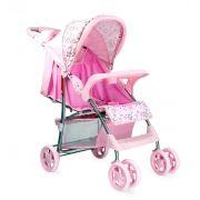 Carrinho de Bebê Passeio Esmeralda Reclinavel Rosa ate 15 kg Baby Style