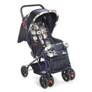 Carrinho de bebê vira Berço Reclinavel 3 posiçoes Funny Voyage Azul