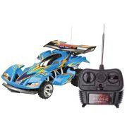 Carrinho Extreme Rádio Controle 7 Funções Azul Bateria Recarregavel - Candide